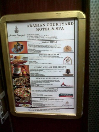  : List of Restaurants in the Hotel