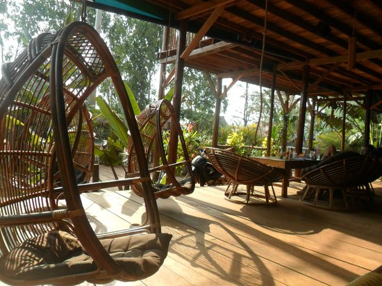 Wish You Were Here... Guesthouse & Bar Otres Beach, Cambodia:                   hanging swinging ultimate bamboo couchs