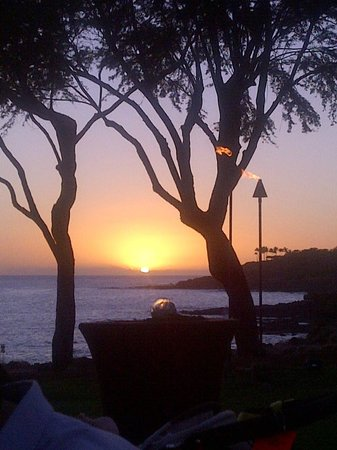 Four Seasons Resort Lana'i, The Lodge at Koele:                   Sunset on Lanai