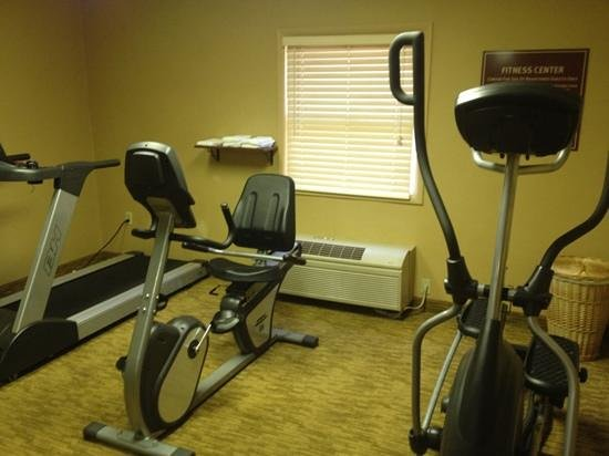 Comfort Inn:                                     small fitness center...