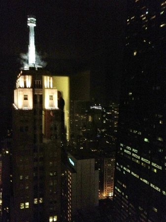 Four Seasons Hotel Chicago:                                     Night view over-looking the Palmolive building and toward th