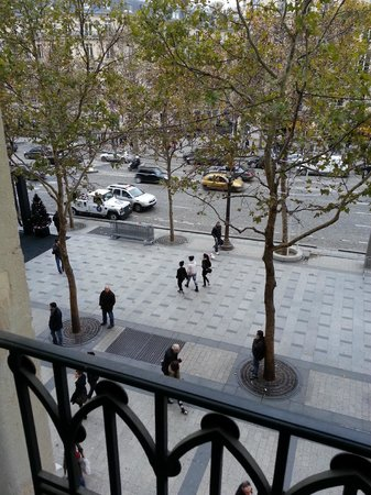 Paris Marriott Champs Elysees Hotel:                   View from Suite above Sephora