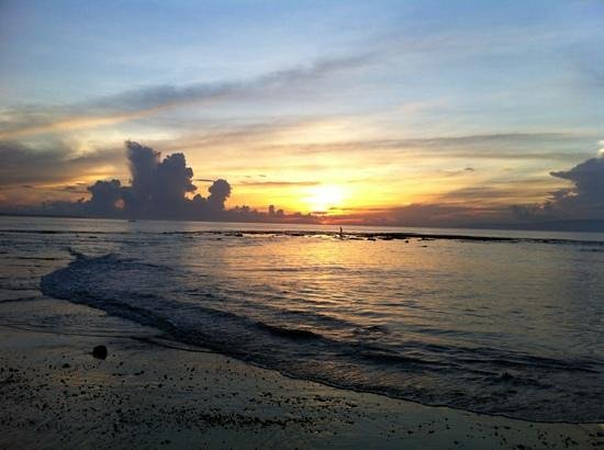 Villa Orange Bali:                   Sunrise from the beach in front of the villa