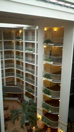 Embassy Suites by Hilton Denver - Southeast:                   View from room down to breakfast area