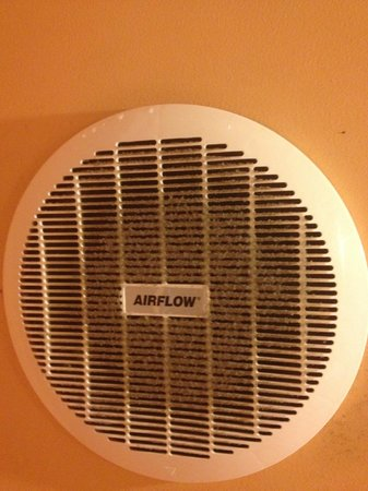 Annie's Place Adelaide Hostel:                                                       Mould and dust clogs the bathroom fan!