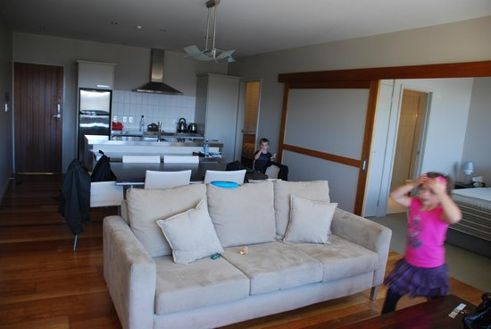 The Sands - Waiheke Island:                   Kitchen &amp; Living Area