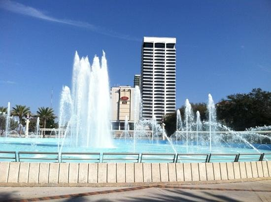 The Palms Retro:                   friendship fountain right next to brewing company!