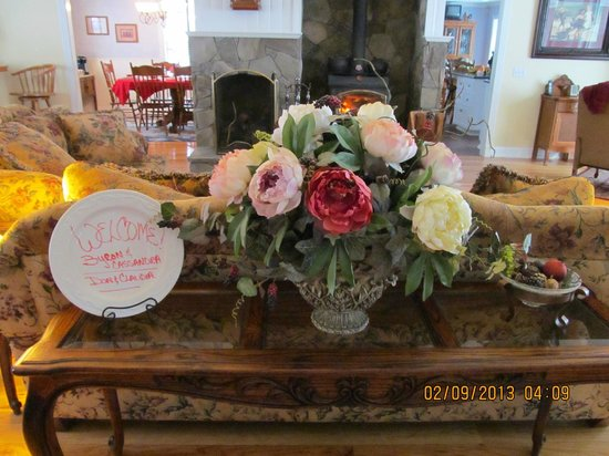 Serendipity Ranch Bed and Breakfast:                   Welcome in the Great Room