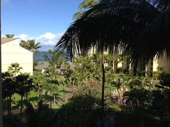 Aston Kaanapali Shores:                   view from lanai
