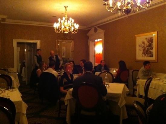"""Morrison House, a Kimpton Hotel:                   Dinner in the """"big"""" room."""