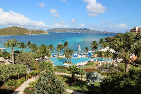 The Ritz-Carlton, St. Thomas:                   View from the lobby; St. John in the distance