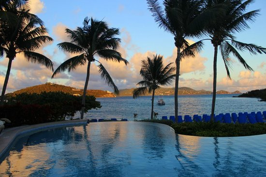 The Ritz-Carlton, St. Thomas:                   Infinity pool at twilight