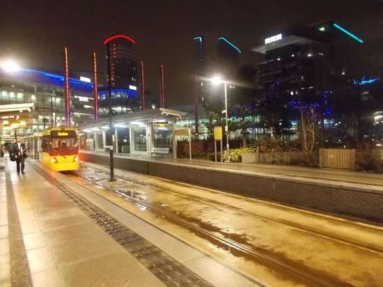 Holiday Inn Manchester MediaCityUK: Tram stop at Media City