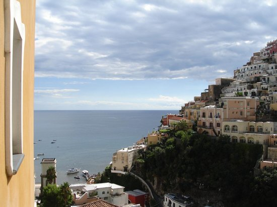 Hotel Savoia:                   View of Amalfi Coast from balcony