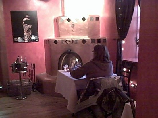 El Meze Restaurant:                   A real fireplace