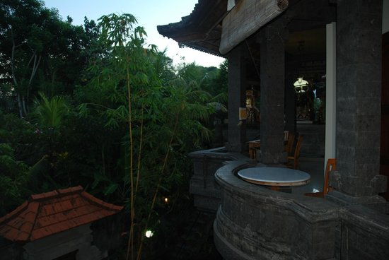 "Ubud Dream:                   ""public"" dining area. Love the rocking chair :)"