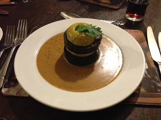 Kendal, UK:                   black pudding heaven