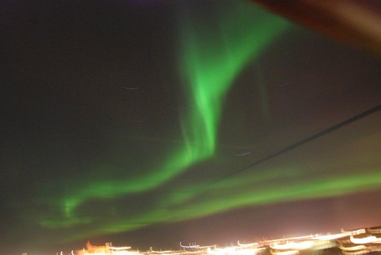 Hotel Holt:                   Aurora Borealis from the 4th floor