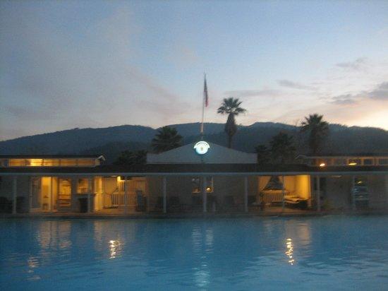 Indian Springs Resort and Spa:                   evening soak.  pool is open until midnight.