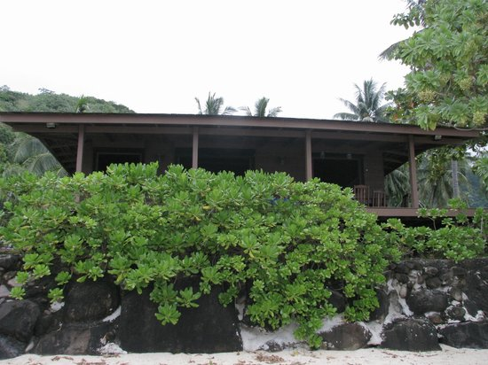 Moorea EcoLodge&SPA:                   House from beach.