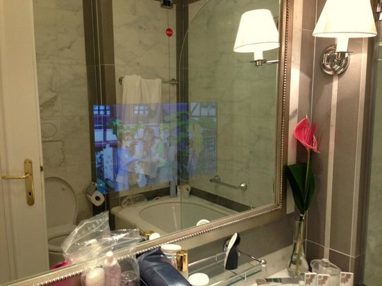 The St. Regis Florence: cool mirror tv