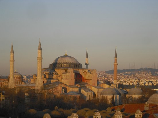 Lady Diana Hotel: Roof top terrace - Hagia Sophia