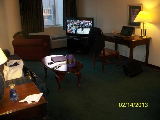 Garfield Suites Hotel:                   Livingroom