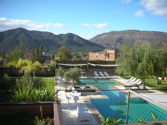 DOMAINE MALIKA Atlas mountains Hotel:                   pool view from room