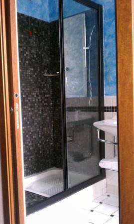 Hotel San Francesco:                   Spacious shower