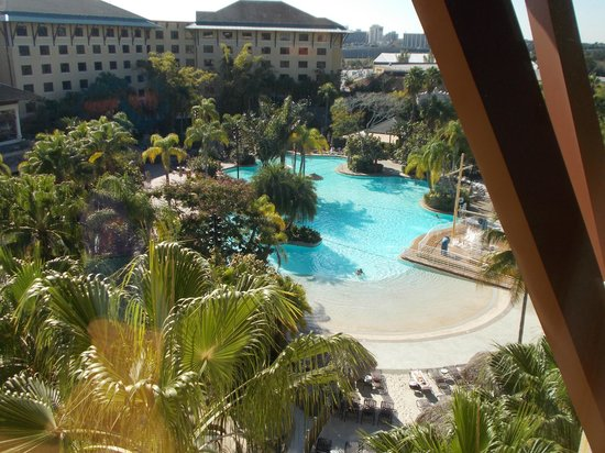 Loews Royal Pacific Resort at Universal Orlando:                   Lagoon from our room