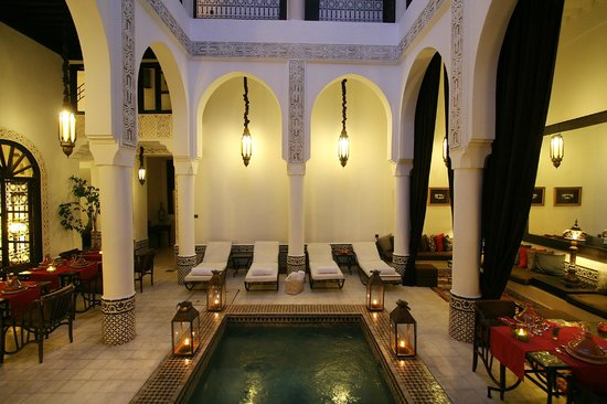 Riad Dar Saad :                                     le patio central