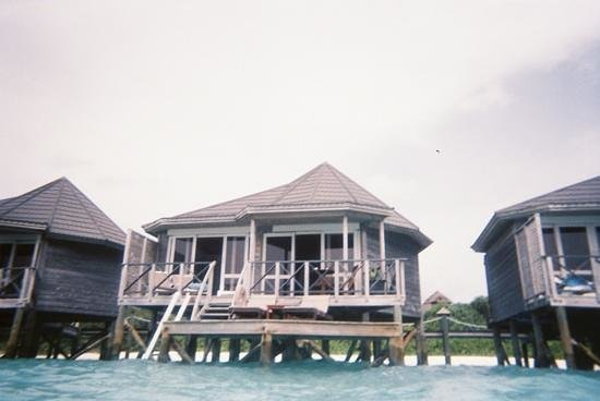 Kuredu Island Resort & Spa:                                                       view of water villa from sea