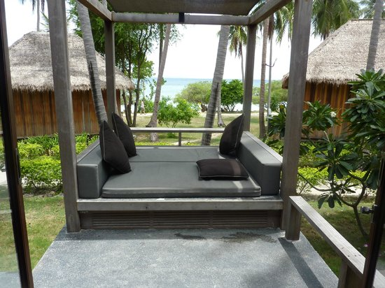 The Haad Tien Beach Resort:                   view from the room