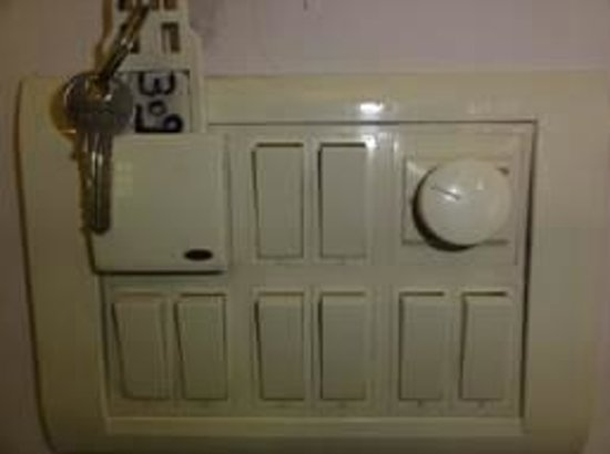 Le Sutra - The Indian Art Hotel: Typical Indian light switch 1
