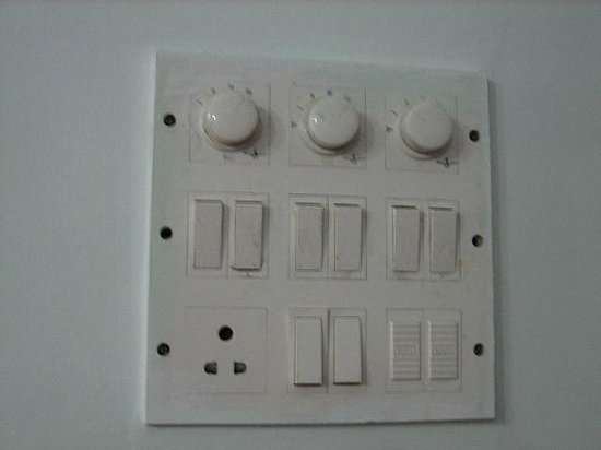 Le Sutra - The Indian Art Hotel: Typical Indian light switch 2