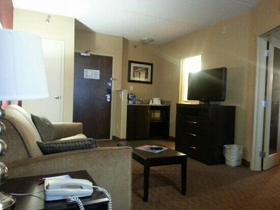 Comfort Suites Downtown Buffalo: Living room