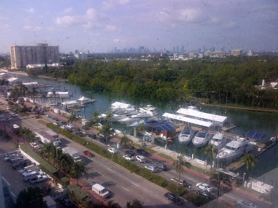 View from Room - Eden Roc Miami Beach - note dirty windows