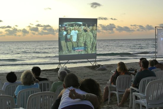 Couples Swept Away:                                     Super Bowl on the beach
