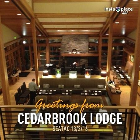 Cedarbrook Lodge:                                     great hall
