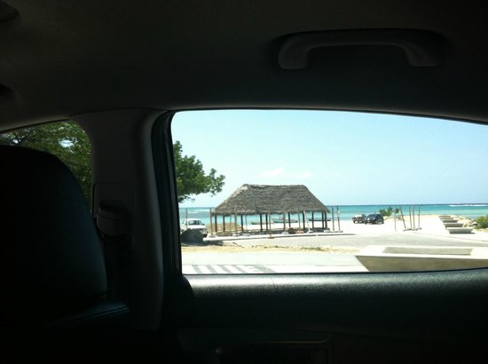 Divi Village Golf and Beach Resort:                                     View from a taxi