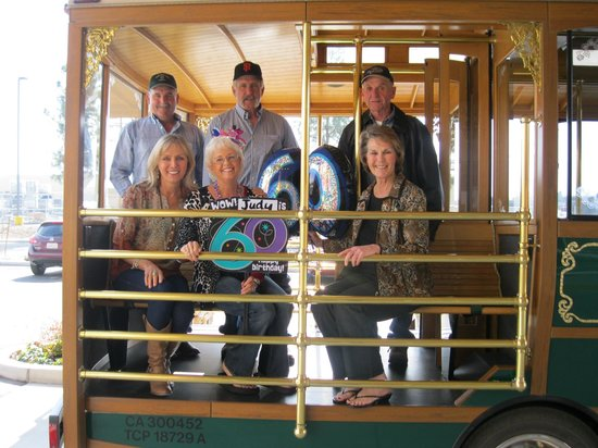 The Oaks Hotel:                   Caught the trolley in front of hotel to go wine tasting