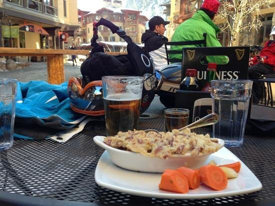 Squaw Valley, CA:                   lunch at the Auld Dubliner