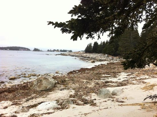 Indian Harbour, Kanada:                   View on the beach