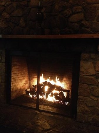 Basye, VA:                                     warm and cozy fireplace.