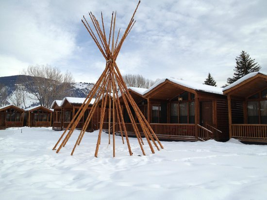 Rustic Inn Creekside Resort and Spa at Jackson Hole:                   The  grounds...