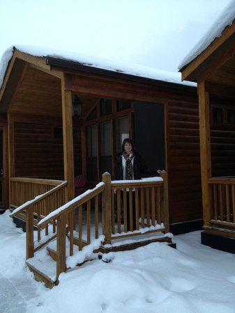 Rustic Inn Creekside Resort and Spa at Jackson Hole:                   Front Porch of Superior Cabin