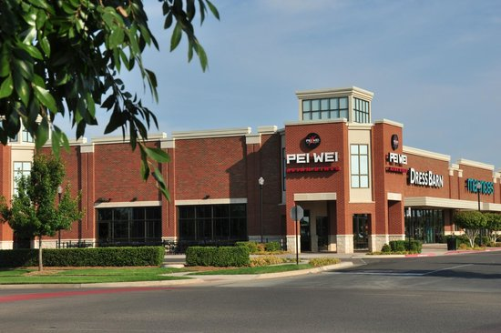 The pei wei store in norman oklahoma sits at one end of a for Asian cuisine norman ok