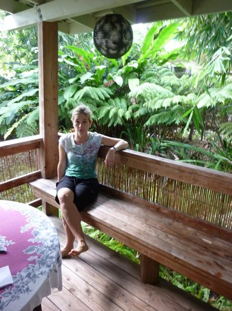 Hilo Bay B&B:                   Beautiful private porch