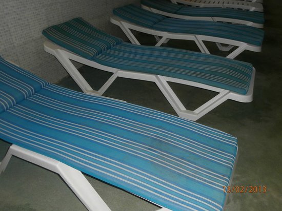 Delphin Ribat:                                     indoor  loungers around the pool