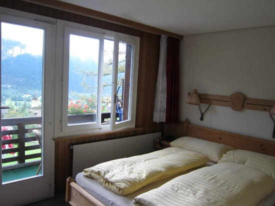 Hotel Kirchbuehl: the studio is rather small but the views well made up for it